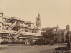 New and old Palaces at Makarpura, back view [Vadodara]